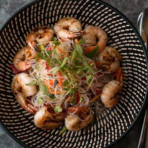 Marinated Prawn Salad Meal from Nourished For Life. healthy, pre-made meals